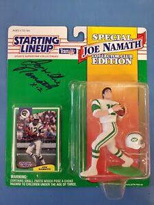 Joe Willie Namath New York Jets Signed Starting Lineup AUTO Autographed COA HOF