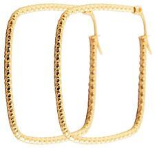 Titan Titanium Damen Ohrhänger Creolen Kreolen Ohrringe vergoldet Gold 45 mm II