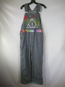 G6797 VTG 80's 90's Women Dickies Embroidered Carpenter Bib Overalls Size 30/30