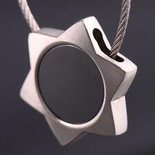 Hexagram Star Heart Steel Wire Rope Ring Keychain Keyring Car Key