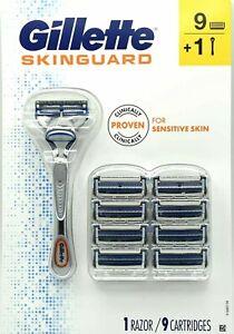 Gillette SkinGuard 1 Razor Handle and 9 Cartridge Refills for Sensitive Skin