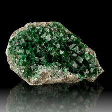 "7.1"" BlueGreen Cubic FLUORITE Sharp Glassy Gem Crystals Rogerly Mine UK for sale"