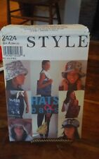Vtg rare 1994 Style 2424 Hats & Bags lined hats caps purses NEW