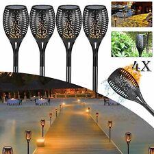 4x Solarleuchte 96LED Garten Beleuchtung Solar Licht Lampe Fackel Leuchte Flamme