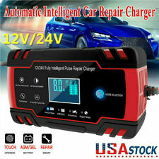 New Car Battery Charger 6/12/24V Volt Motorcycle Battery Repair Type Agm Charger