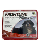 Frontline Plus For Dogs 3 Doses 89to132lbs. New Ships Free