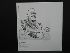 Leroy Neimann Double-Sided Book Plate S2#11 James Beard Black And White
