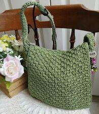 EUC THE SAK Green Crochet Knit Shou