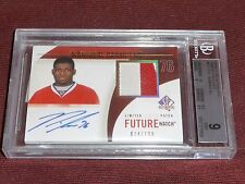 10-11 SP Authentic P.K. SUBBAN 2CLR AUTO PATCH FW RC 74/100 BGS9 MINT POP6 2^