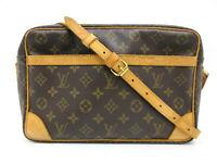 Auth LOUIS VUITTON Monogram Trocadero 30 M51272 Shoulder Bag PVC Leather 90611