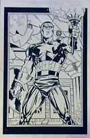 Captain America #1 (1998) page 4 Unused - Original Art  From Ron Garney