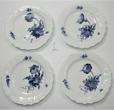 Vintage Royal Copenhagen Blue Flower 1625~4 Dessert Pie Plates (#1)~Braided Wavy