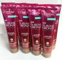9 Pack -  L'Oreal Paris Sublime Bronze Summer Express Body Makeup Lotion, Light