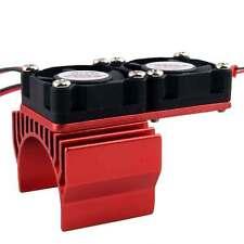 RC HSP Red Alum Heat Sink DC5V Dual Fan Cooling For Models 540/550 Motor (3650)