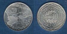 10 Euro Série des Régions 2010 Drapeaux Argent SUP - Rhone Alpes