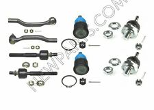 For Honda Isuzu Front Upper & Lower Ball Joints & Outer & Inner Tie Rod Ends