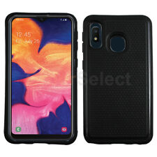 Case Hybrid Hard Shockproof Plastic Cover Black for Samsung Galax 00004000 y A10e