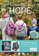 FARBENMIX SEWING PATTERN GLITTER FLOWER HOPE BACKPACK BACKPACK