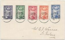 Saint Helena 1938 My12, KGVI 5 values, including good 3d on first day cover