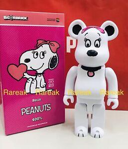 Medicom Be@rbrick 2020 We Love Peanuts Snoopy Belle 400% Bearbrick 1pc