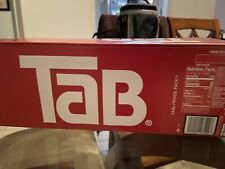 One (1) 12-pack of Tab Cola soda pop 12oz cans - new, unopened, in-box