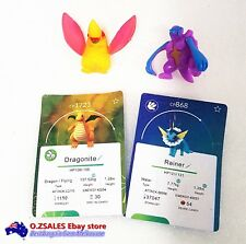 10 pcs Pokemon figurines with pokemon cards blister pack cake topper