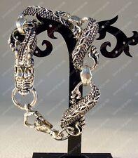 Tibetan Tribal Handcrafted carved dragon Amulet bracelet