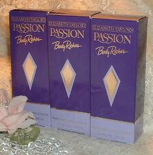 LOT ~ PASSION ~ Elizabeth Taylor ~ 3.4 oz / 100ml EACH ~ Perfumed BODY LOTION s