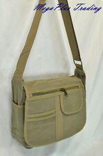 Ahmik Casual Canvas Cross Body Shoulder Messenger Bag B3104 Khaki