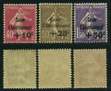 """FRANCE N°266/68 """" SEMEUSES 4ème SERIE CAISSE D'AMORTISSEMENT 1930 """" NEUFS XX SUP"""