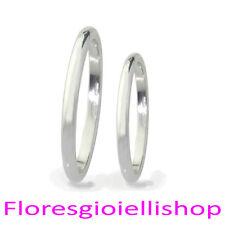 Coppia di fedine in argento massiccio 925 Flores Gioielli A4 Incisione gratuita