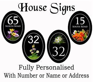 VERTICAL OVAL  plaques for House / Caravan / Flat / Door FREE PERSONALISATION