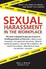 Sexual Harassment in the Workplace, Boland, Mary, Good Condition, Book
