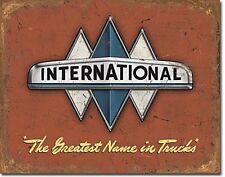 International Truck Logo metal sign     410mm x 300mm    (de)