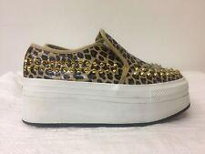 IIJIN low Top fashion sneakers with platform-manmade -Leopard Animal Print -SZ38