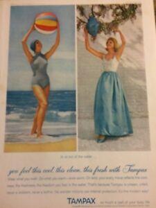 Tampax Tampons, Full Page Vintage Print Ad