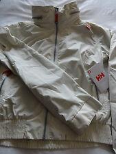 Helly Hansen W capoterra rainwear hooded jacket eggshell size M new + tags.