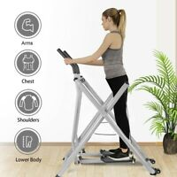 Fodable Glider Elliptical Exercise Machine Fitness Home Gym Workout Air Walkers