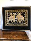 Embroidered Handmade Wall Hanging Elephants