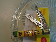Kissing Crane Limited Vietnam Trapper 2 Blade Pocket Knife Etched Bone 5417 New