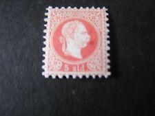 *AUSTRIA, OFFICE IN TURKEY SCOTT # 3, 5sld VALUE RED 1867 FRANZ JOSEF ISSUE MVLH