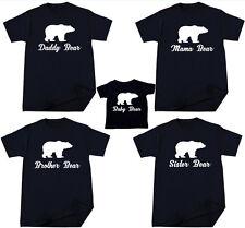 Bear T-shirt Christmas Gift Papa Baby Mama Bother Sister Grandpa Grandma Bear
