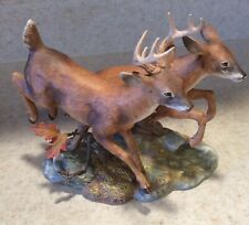 Home Interiors Masterpiece Porcelain By Homco Whitetail Deer Buck & Doe in Box