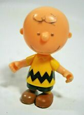 "Nice Vintage Peanuts Charlie Brown Hard Plastic 3.25"" Figure, Head and Arms Move"