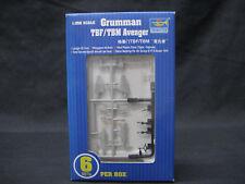 TRUMPETER 1/350 SCALE GRUMMAN TBF / TBM AVENGER BOX OF 6 UNITS MODEL KIT PLASTIC