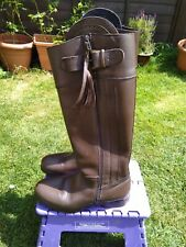 Cabbotswood Brown Leather Spanish Style Boots Size 6 Exc Condition