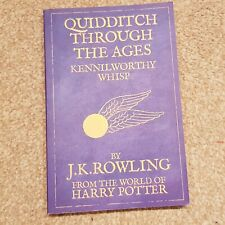 Quidditch Through the Ages by JK Rowling, Harry Potter book, RRP £4.99