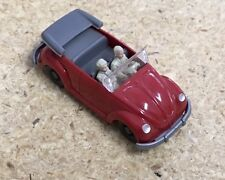 Wiking Germany Volkswagen Beetle Convertible red 1951-1961 in prod.