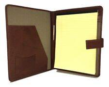 Personalised Leaving gift Leather A4 folder diary cover   Name & Message   PA124
