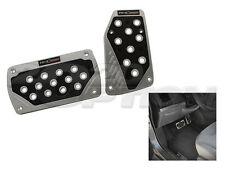 SILVER BLACK AUTOMATIC BRAKE GAS PEDAL PADS FOR BRZ IMPREZA WRX LANCER ECLIPSE